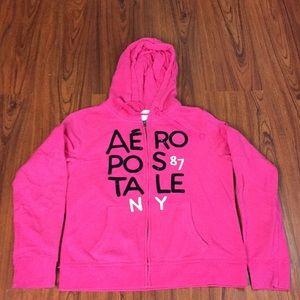 NWOT Blingy Aeropostale Zip Up Hoodie Sweatshirt